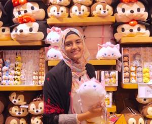 Amena and stuffed animals